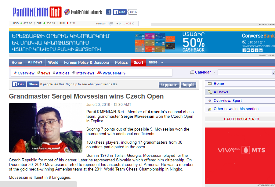 Czech open and the winner is