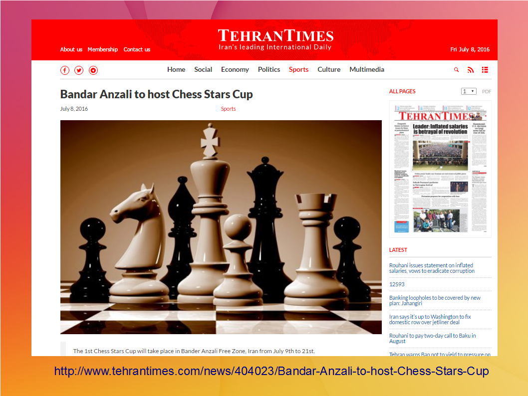 Today's chess news! – spraggettonchess