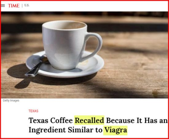 Coffee viagra